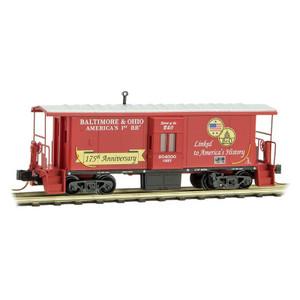 Micro-Trains 130 00 180 Baltimore & Ohio 31' Bay Window Caboose #904000 N scale