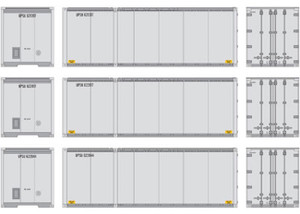 Athearn RTR 17429 UPS #2 28' Containers 3-pack HO