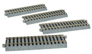 """Kato 2-140 4 7/8"""" 123mm Straight Uni-Track HO 4-pack"""