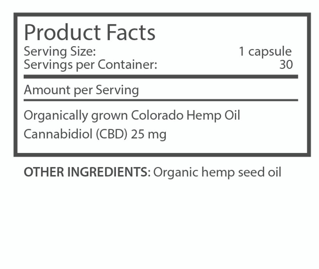 im·bue™ health25 - 25mg premium CBD capsules - 30 count