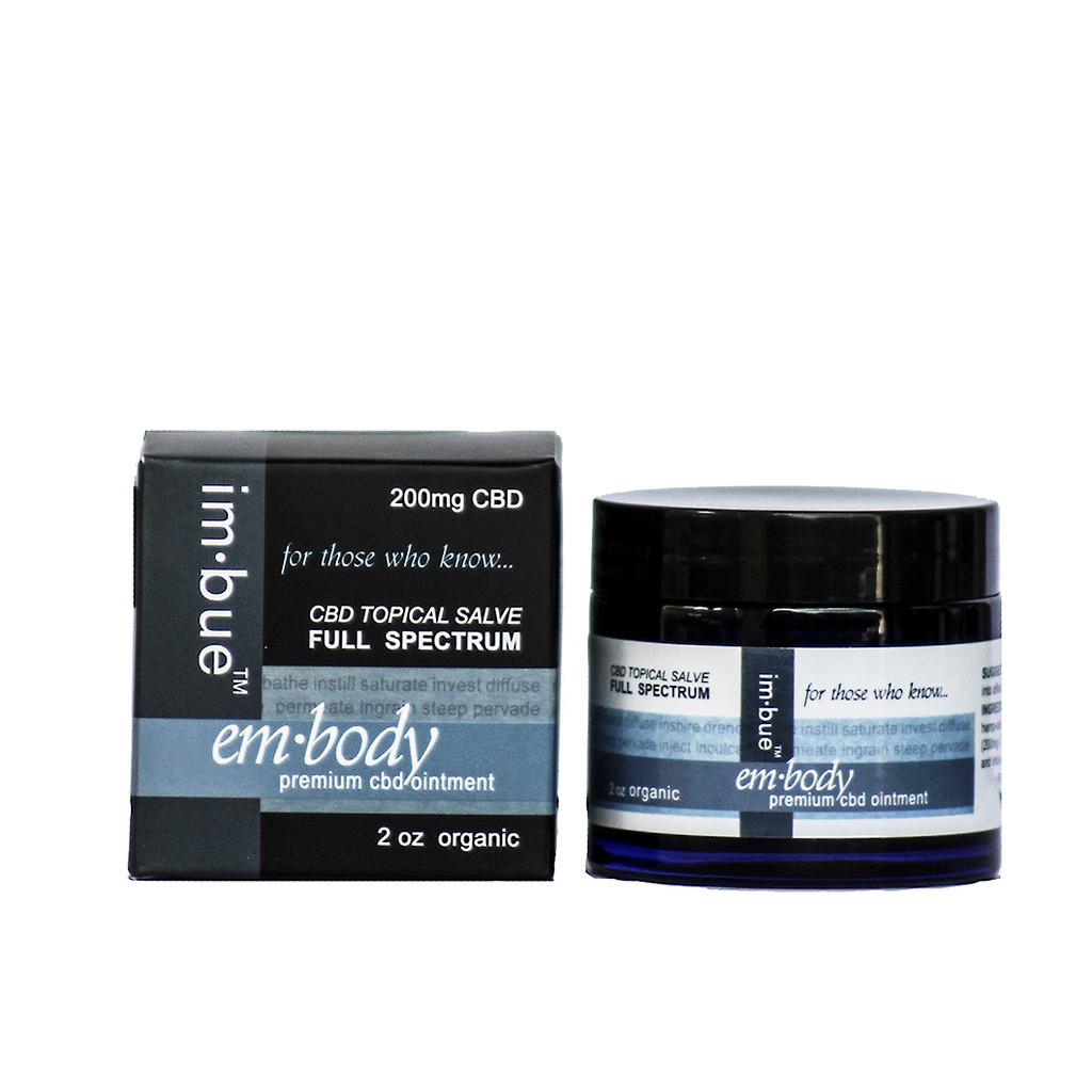 im·bue™ - em·body 200mg premium CBD salve - 2 ounce jar