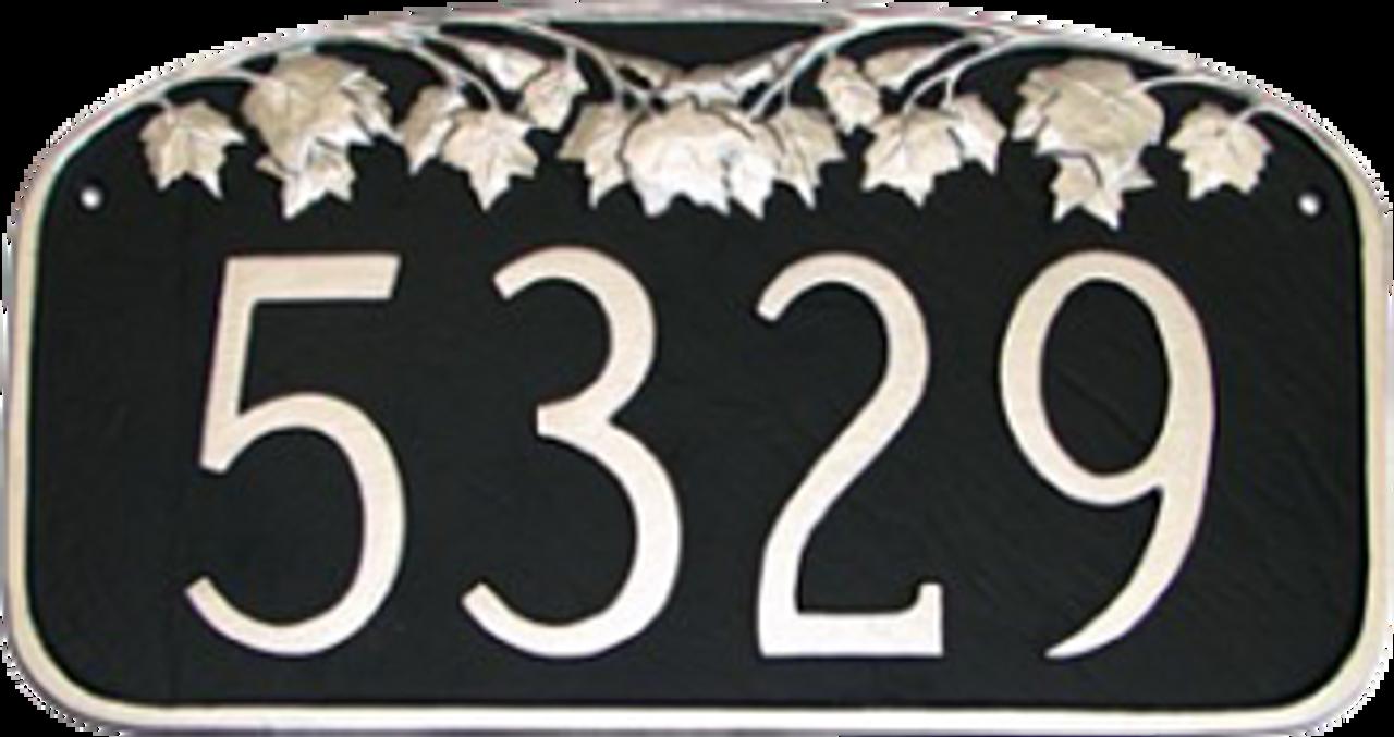 Maple Leaf Address Plaque