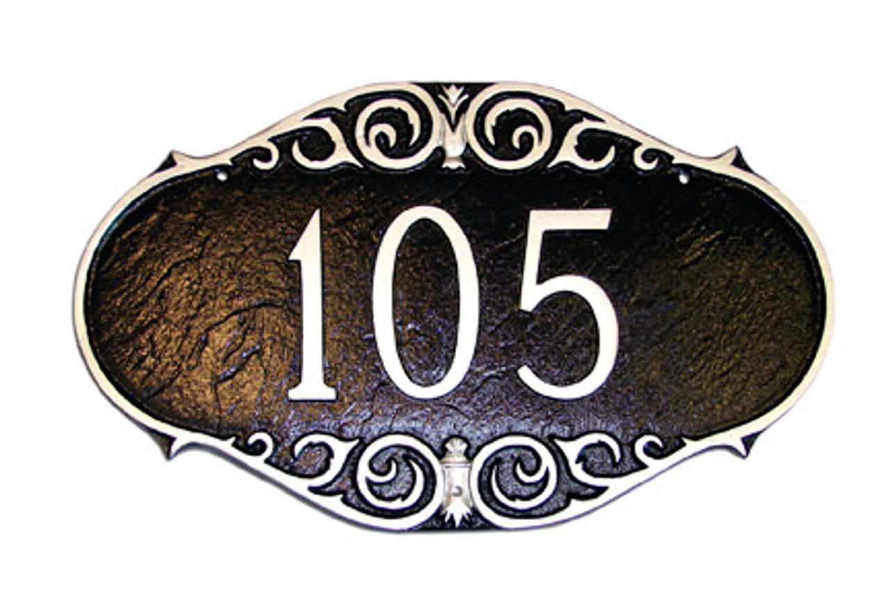 Victorian House Number Plaque