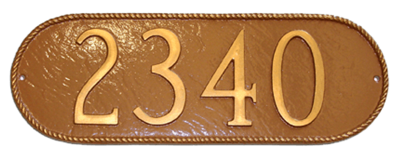 Rope Oblong House Number Plaque