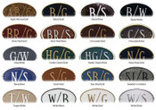 These Beautiful Color Combinations are Available to Complete your Home Address Plaque