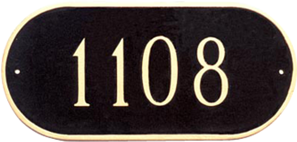 Oblong Address Plaque