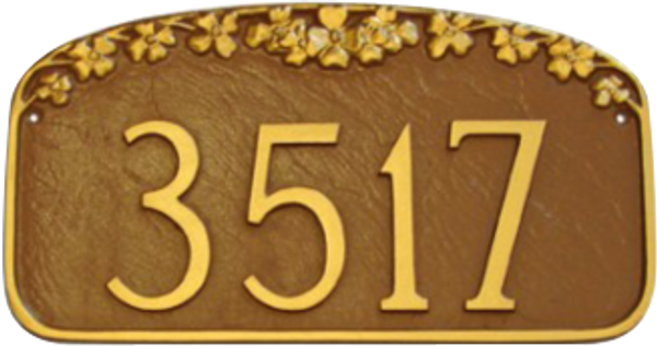 House Number Plaque – Dogwood Flower Design