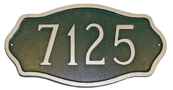 Cast Aluminum Address Plaque