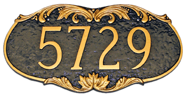 Charleston Address Plaque