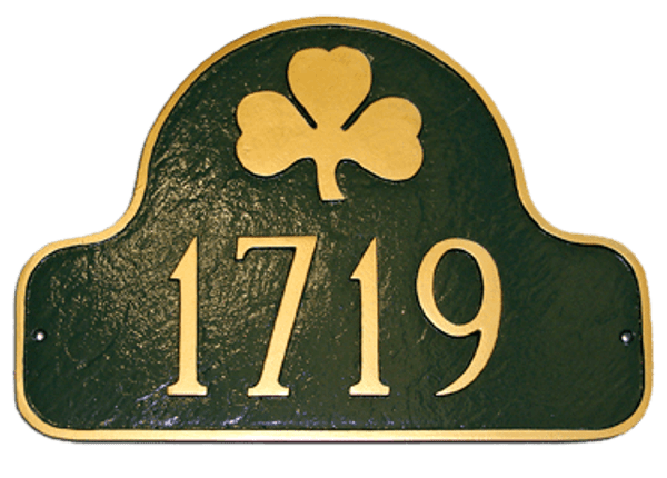 Shamrock Arch House Number Plaque