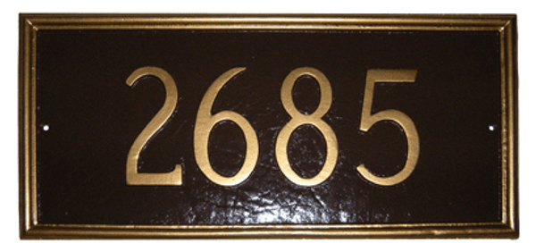 Melilla House Number Plaque