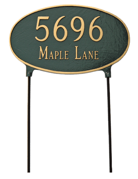 Large Two Sided Sign. Easy to read from a distance. Lawn Stakes are Included for No Additional Charge.
