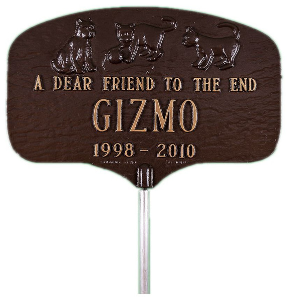 Cat Memorial Plaque with Garden Stake