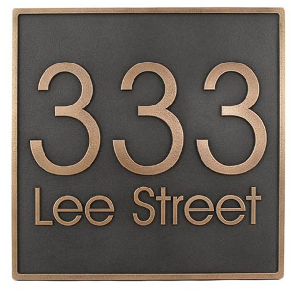 Modern Advantage Address Plaque