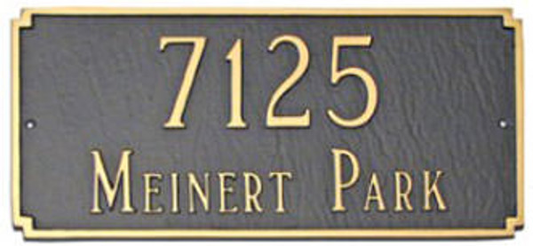 Cast Aluminum Address Plaque. Rust Free and Durable