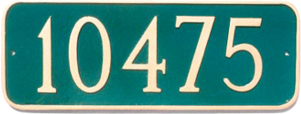 Rounded Rectangle Address Plaque