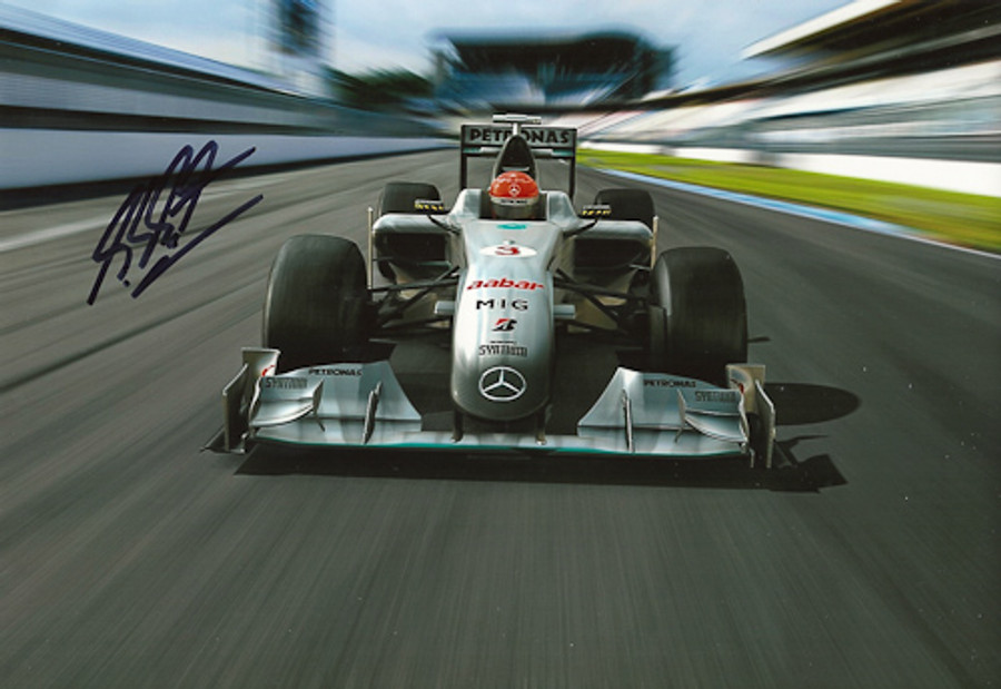 Michael Schumacher Signed Photograph 2010 - 14