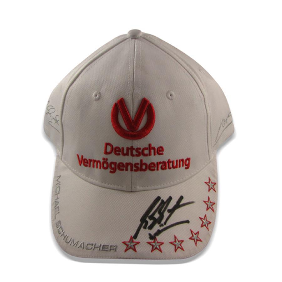 Michael Schumacher Signed 2012 DVAG Cap