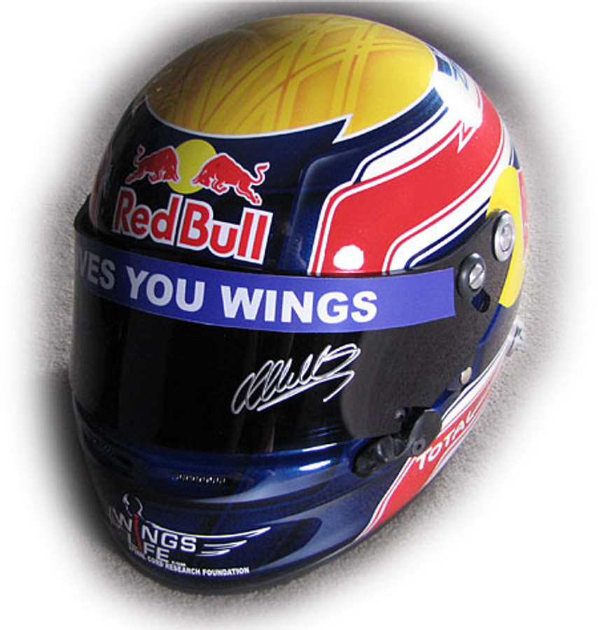 Mark Webber Signed Replica Helmet