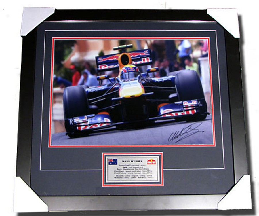 2010 Mark Webber Monaco GP Win Signed Frame - 1