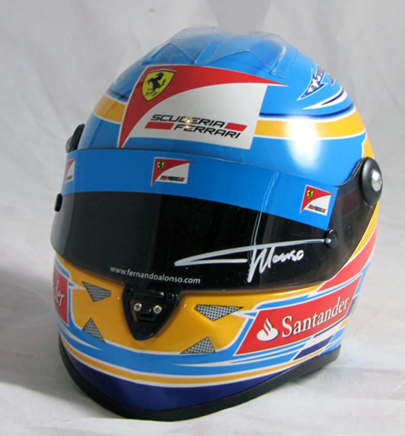 Fernando Alonso Signed Half Scale 2012 Replica Helmet