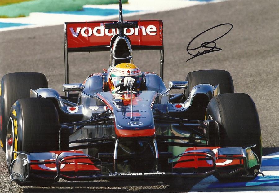 Lewis Hamilton Signed Photograph - 2