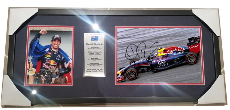 2014 Daniel Ricciardo Red Bull Signed Frame - 3