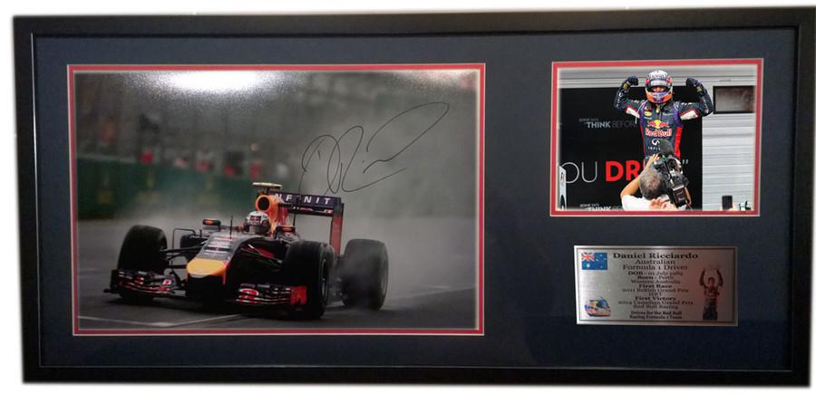 2014 Daniel Ricciardo Red Bull Australian GP Large Signed Frame - 2