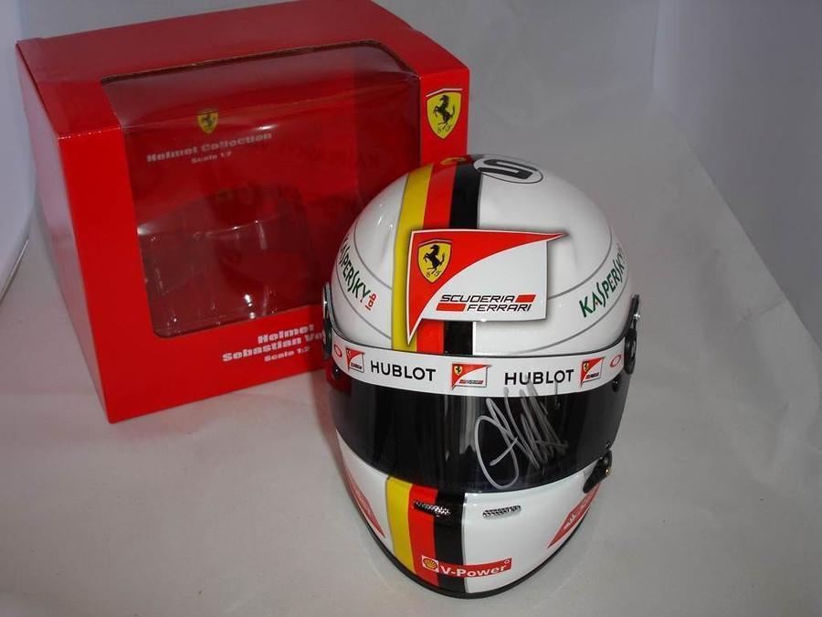 Sebastian Vettel Signed Half Scale 2015 Replica Helmet