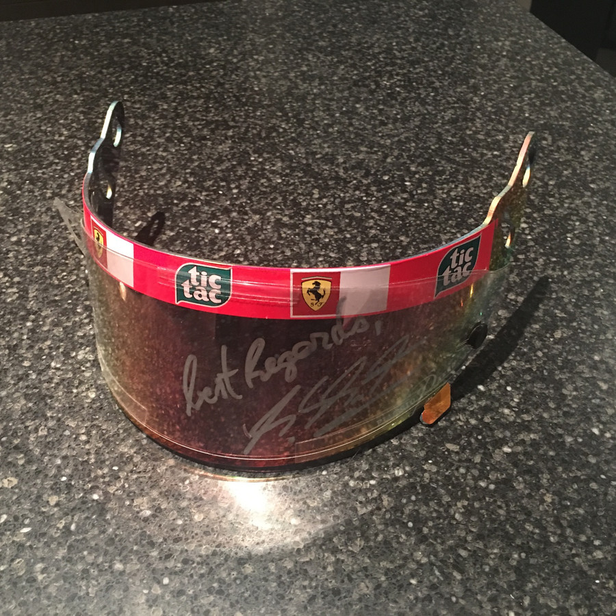 Michael Schumacher Race Used and Signed 2001 Visor