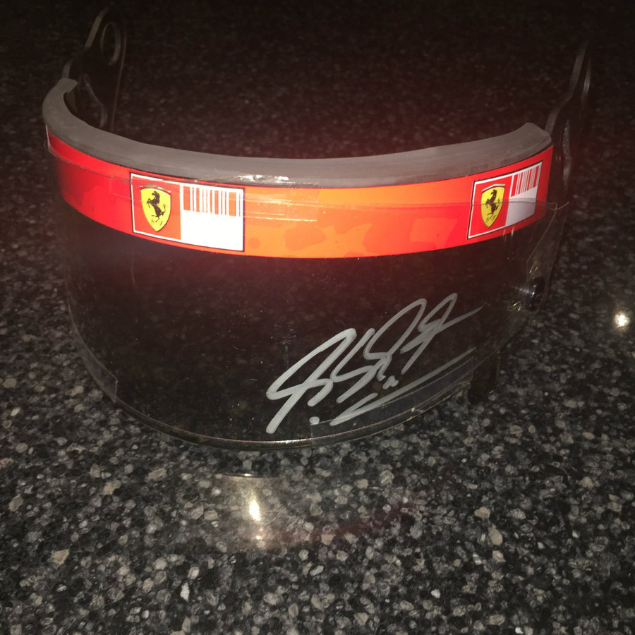 Michael Schumacher Race Used and Signed 2006 Visor
