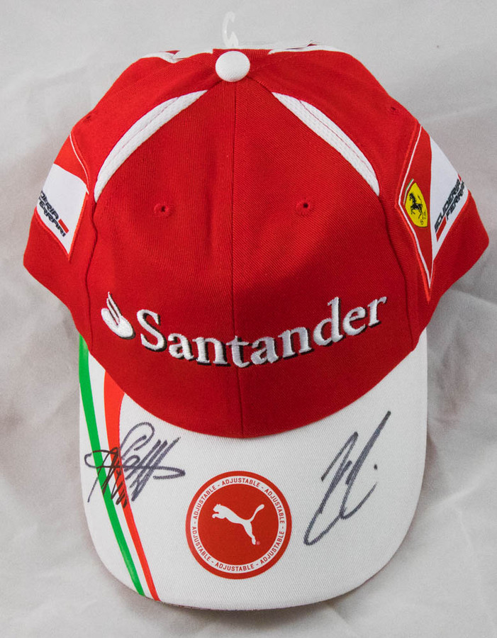 Sebastian Vettel and Kimi Raikkonen Ferrari Signed 2017 Team Cap