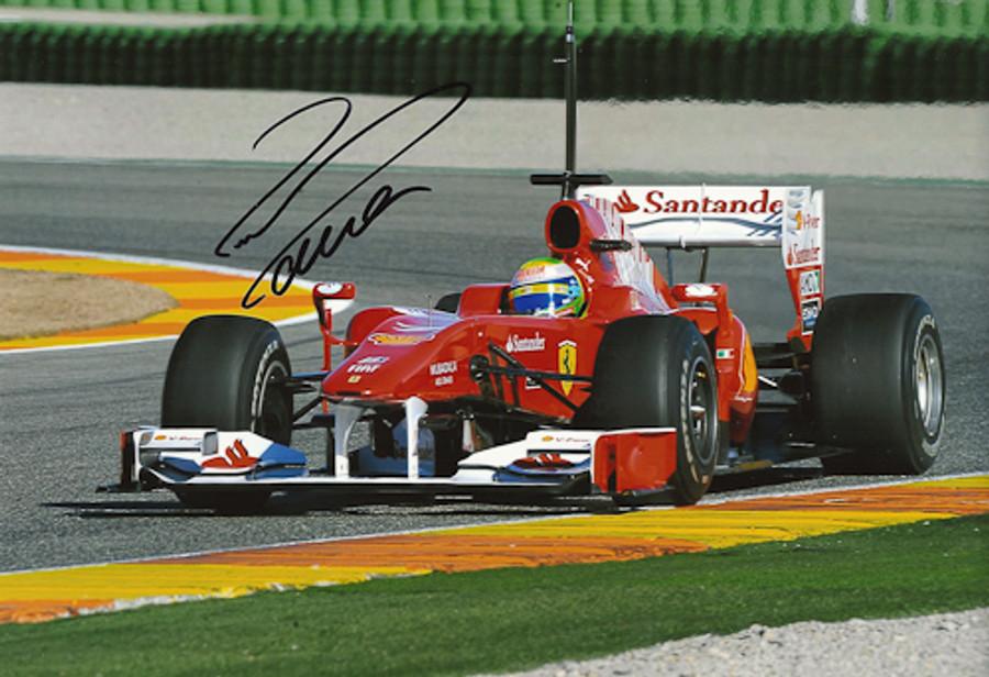 Felipe Massa Signed Photograph 2010 - 2