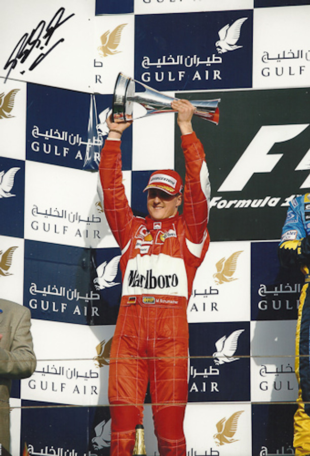 Michael Schumacher Signed Photograph Bahrain 2006 - 2