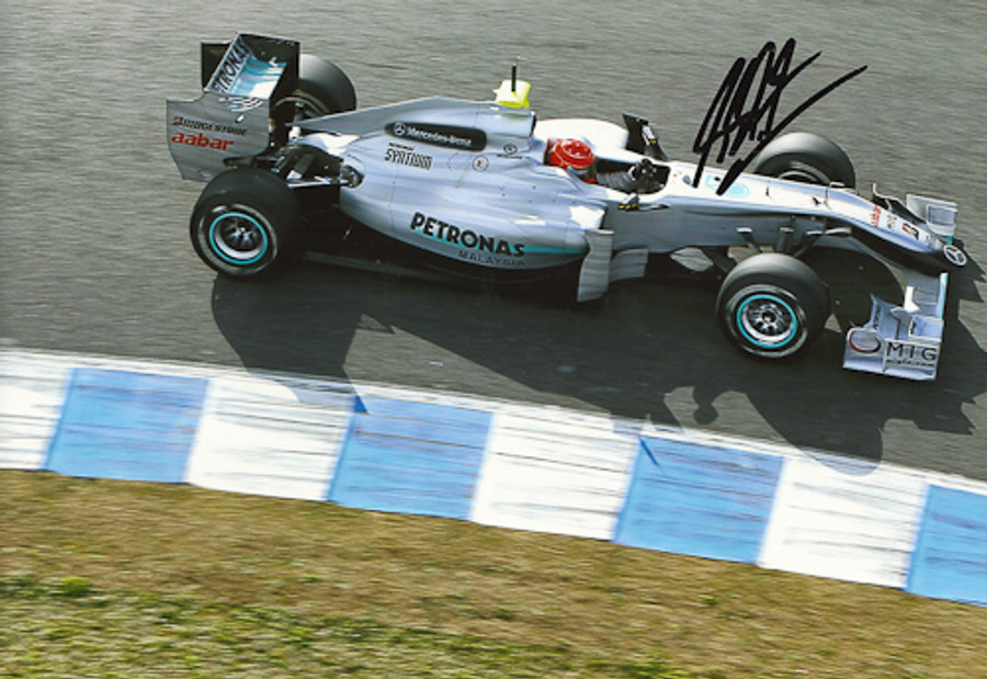 Michael Schumacher Signed Photograph 2010 - 3
