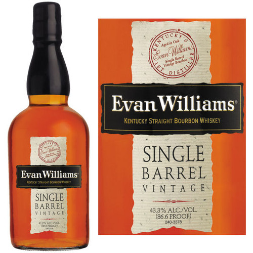 Evan Williams Vintage 2010 Single Barrel Kentucky Straight Bourbon Whiskey 750ml