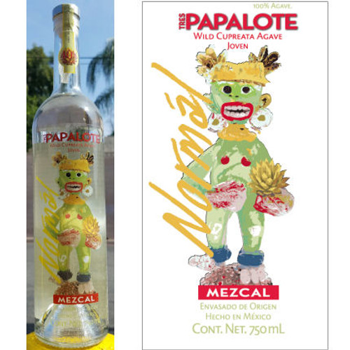 Tres Papalote Normal Mezcal 750ml Autographed by Cheech Marin