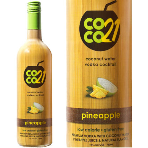 Coco21 Pineapple Coconut Water Vodka Cocktail 750ml