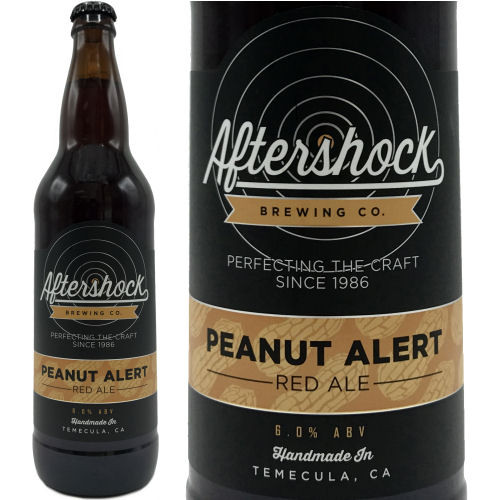 Aftershock Brewing Peanut Alert Red Ale 22oz