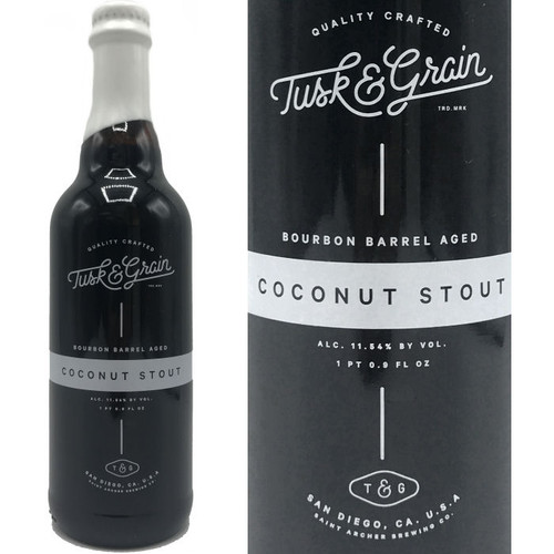 Saint Archer Tusk & Grain Bourbon Barrel Aged Coconut Stout 500ml