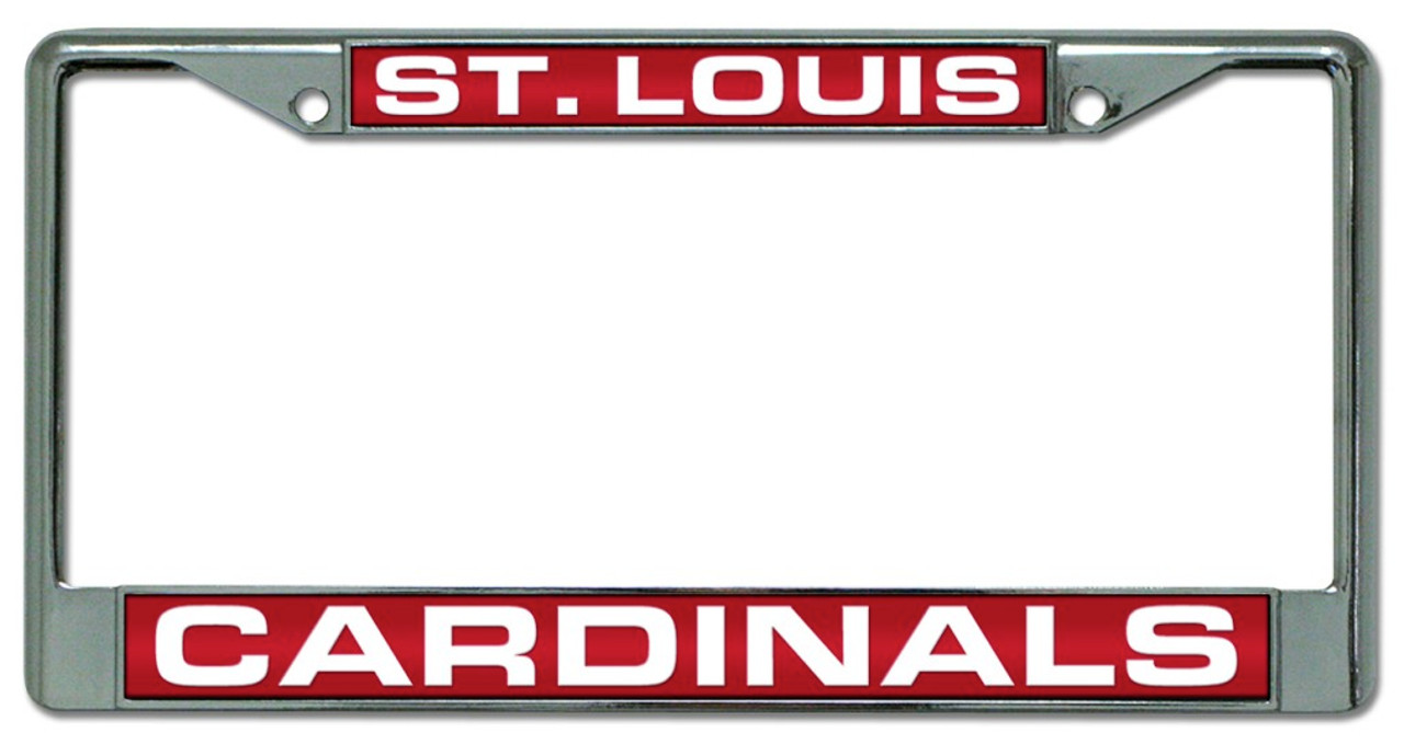 St. Louis Cardinals Laser Cut Chrome License Plate Frame - Avery ...