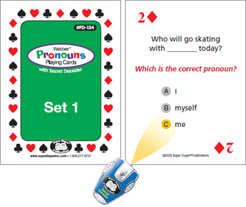 Webber Pronouns Playing Cards With Secret Decoder