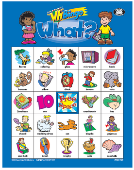 "Ask & Answer ""WH"" Bingo Game"