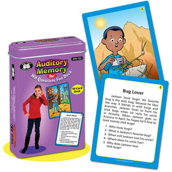 Auditory Memory for WH Questions Fun Deck