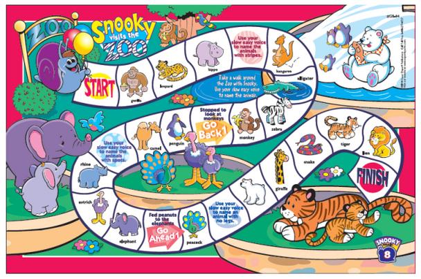 Snooky Snail's Fluency Game Boards