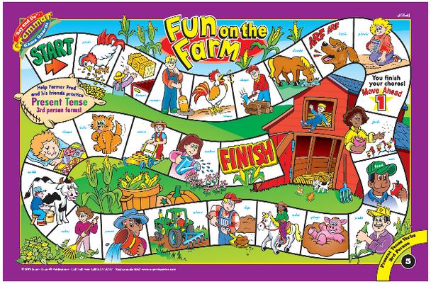 Say & Do Grammar Game Boards