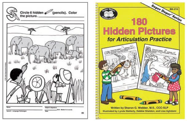 180 Hidden Pictures for Articulation