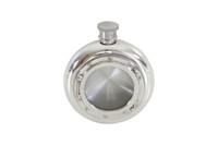 Porthole English Pewter Flask