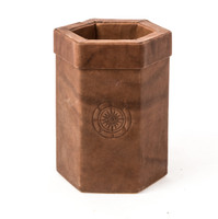 Leather Pen & Pencil Holder Celtic Motif