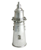 Silver-Plated Lighthouse Cocktail Shaker